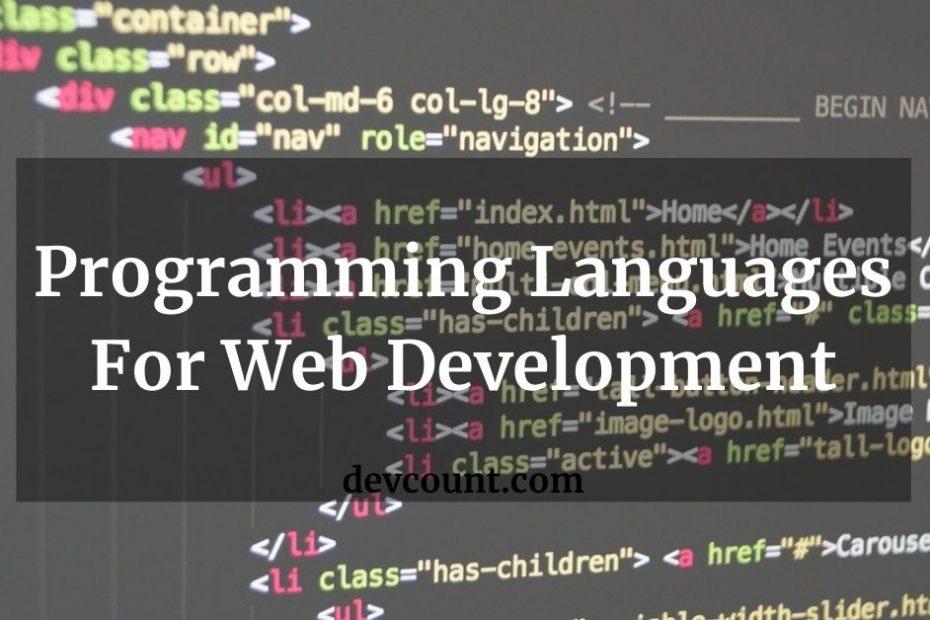 Programming Languages For Web Development